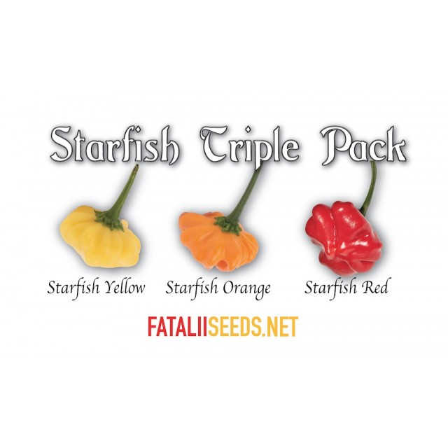 Fatalii's STARFISH TRIPLE PACK! (Chili Seed Kit)
